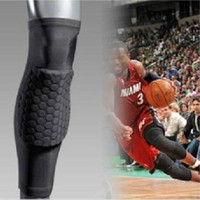 Sıcak 2019 Çorap Petek Spor Güvenlik Basketbol Diz Pedleri Yastıklı Dizlik Sıkıştırma Kol Koruyucu Spor Kneepad