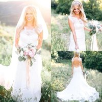 2019 New Sexy Country Style Mermaid Wedding Dresses See Thro...