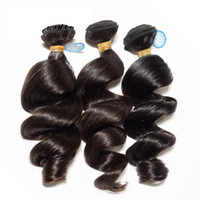 البرازيلي فضفاض موجة عذراء الشعر 3/4 حزم أفضل 10a غير المجهزة بيرو الهندي الماليزي الإنسان الشعر نسج اللون الطبيعي يمكن التبييض يمكن صبغ