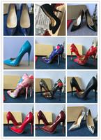 Spedizione gratuita Quindi Kate Styles piatto 8cm 10cm 12cm tacchi alti scarpe rosso inferiore colore nudo in vera pelle punta punta pompe in gomma può essere custom