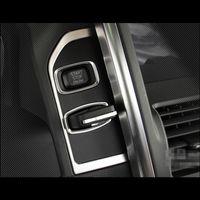 Volvo XC60 Araba aksesuarları Paslanmaz çelik Anahtar deliği paneli dekorasyon kapak Döşeme iç Ateşleme cihazı şeritleri