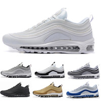 Scarpe da corsa Nike Air Max 97 Silver Bullet 97 Triple-Black White Bordeaux OG Japan da uomo