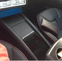 맞춤형 통합 컨트롤 박스 암 레스트, Tesla 모델 S 센터 인서트 콘솔 스토리지 Bin CUP CAN 홀더 Tesla 모델 용