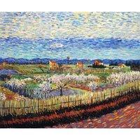 Schöne Ölgemälde von Vincent van GoghPeach Bäume in der Blüte Kunstwerk auf Leinwand handgemaltes der Qualitäts