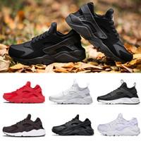 huarache 1.0 4.0 Yüksek Kaliteli Hava Huarache Ben Erkekler Kadınlar Için Ayakkabı Koşu Siyah Altın Sneakers Huarach 1 Atletik Eğitmenler Spor 36-45 huraches