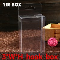 50 pcs lot 3xWxHcm packaging boxes with hook  transparent pl...