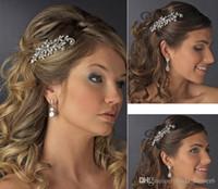 Bling Bridal Comb Kopfstücke 2019 Classic Silver Plated Hochwertige Kristall Braut Haarschmuck Hochzeit Haarschmuck Kopfschmuck