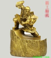 Guang Guang 순수 구리 Dharma Bodhi 장식품 무술 부처님 이미지 공예품 가정 장식