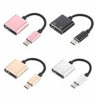 2in1 tipo C Adattatore AUX AUX AD AUDIO AD AD AD AD AUDIO ADATTATORE USB Tipo C a 3.5mm Jack per Xiaomi MI 6 Huawei senza 3.5 Jack