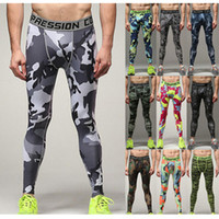 2018 New Men Running Compression Tights Pants Elastic Clothe...