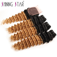deep wave bundles with closure shining star peruvian hair on...
