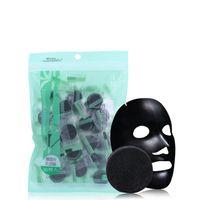 Maschera compressa BAMBOO carbone vegetale naturale al carbone di legna Maschera nera Fibra di carta Cura del viso Foglio di carta compressa compresso fai da te