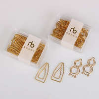 Champagne Gold Calabash school Customization Paper Clips Gol...