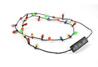 الجملة عطلة عيد الميلاد اللمعان ضوء لمبات قلادة ، قلادات LED للزينة عيد الميلاد لوازم حزب الحسنات 35pcs