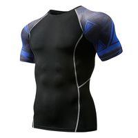 Camisa de compressão dos homens camiseta 3d adolescente lobo masculino mma apertado manga curta rápida treino seco de fisiculturismo Tee ginásios tops de fitness camiseta