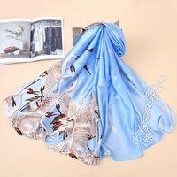 3pcs lungo libellula gru disegno animale stampe morbide sciarpe scialli per le donne ragazza estate seta avvolge sciarpe scialle signora spiaggia