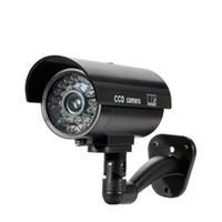 가짜 더미 카메라 총알 방수 야외 실내 보안 CCTV 감시 카메라 깜박이는 빨간색 LED 무료 배송