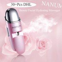 Nanum multifunción vaporizador de agua facial bruma hidratante mini belleza masajeador de vibración facial terapia ultrasónica humidificador para la piel