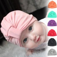 Soft Cute Cotton Baby Turban Hats Infant Accessories Head Ba...