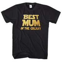 Best Mum In The Galaxy Mothers Day T Shirt Top Women Gift Pr...