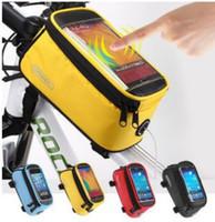 "Bolso de la bicicleta de la pantalla táctil delantera de Roswheel bicicletas Frame Bolsas Portamaletas lateral impermeable 4.2"" 4.8"" 5.5"" bolsa del teléfono + Extensión de la Línea envío"