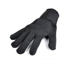 Par de luvas anti-corte Corte prova Luvas respirável Segurança Outdoor Trabalho Mãos Protector Black White Cor A252
