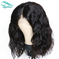 Bythair Human Hair Lace Wig Water Wave Short Bob Full Lace W...