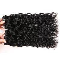 Вия Top Selling волна воды 3 пачки с Closure 9А бразильские волосы перуанский волна воды малазийский океана волны Индийского Влажная и Волнистые человеческих волос