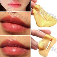 no logo Donne oro collagene proteico cristallo idratante film labbra per inverno cristallo collagene maschera labbra proteina collagene vitamina e