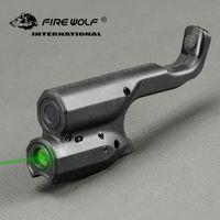 Escopo verde tático da vista do laser do lobo do fogo para o laser da pistola de cor preta de 1911 para o tiro da caça