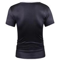 Poliéster falso dos piezas estilo camiseta hombres mujeres camisetas verano tops imprimir traje tops moda marca camisetas spandex