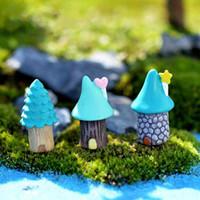 Miniature Bottiglia del fumetto Tree House Bonsai Accessori fai da te ecologico Materiale Moss terrario Micro Paesaggio Ornamenti Fairy Garden Desktop