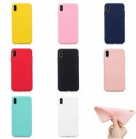 Matte weiche TPU Fall für Iphone SE 2020 11 PRO XR X XS MAX PLUS 8 7 6 5 6S 5S Xiaomi F1 6X A2 5X Redmi S2 ANMERKUNG 4 5 PRO 4X mattierte Abdeckung 100PC