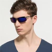 Atacado-2018 nova moda Polarizada cor óculos de sol para mudança de cor óculos de sol com caixa e pano frete grátis