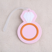 FREE SHIPPING(100pcs lot)+ Pink Diamond Ring Luggage Tag Dest...