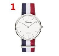 Homens Mulheres Relógios 40mm Designer Quartzo Nylon Canvas Band Relógio Casual Unisex Xmas Presentes Brand WristWatch 1024 Alta Qualidade