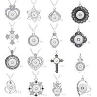 7 stili assortiti Noosa Ginger 18 millimetri Snap Charms Bottoni Chunk cuore di cristallo Multi Collane del pendente monili adatti