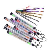 vendita al dettaglio di strumenti di tampone di cera con punta in silicone oro / argento / arcobaleno 121mm tamponare strumento secco penna vaporizzatore erba per contenitore tappetino in silicone