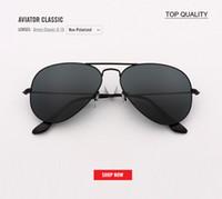 1ae171cd6b471 New top quality Vintage Clássico Da Marca Designer de Piloto de Óculos De  Sol Dos Homens