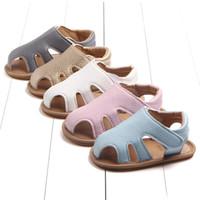 Fest Farbe Neugeborenes Unisex Baby Jungen Sandalen Mokassins Kleinkind-Babyschuhe weiche Sohle Anti-Rutsch-Erste Wanderer Schuhe für Säuglingsschätzchen