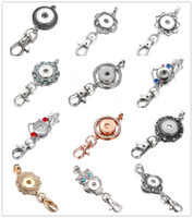 12styles Noosa Chunks Metal 18mm Snap Buttons Key Chains Key...