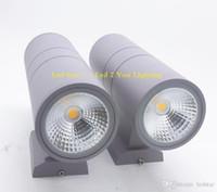 COB Arriba Abajo Led Lámparas de pared 6W 10W 14W 20W 24W 36W Impermeable al aire libre Paquete de pared Led luces AC 110-240V UL FCC