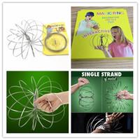 Anello di flusso in metallo Toroflux Flow RingsToy olografico crea un anello di flusso giocattoli anelli divertente giocattolo intelligente Flowtoys regalo per bambino