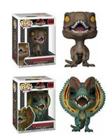 Funko Pop Jurassic World 2 Velociraptor Dilofosaurus Vinyl Action Figure con scatola Popolare giocattolo di buona qualità