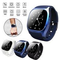Inteligente relógio bluetooth smartwatch m26 com display led barômetro alitmeter music player pedômetro para android ios telefone móvel com caixa