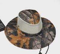 cappello in bicicletta piegata Boonie Cappelli sportivo camuffamento della giungla cap caccia tattico cappelli cappello kryptek estate sunhat pescatore benna