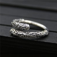 925 sterling silver ring vintage Designer monkey golden cudg...
