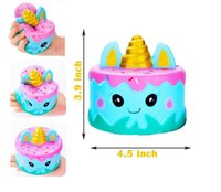 Kawaii Squishy Unicorn Cake Jumbo Cartoon Cream Bread Slow R...