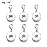 Silver Plated 12 18mm Ginger Snap Button Base Interchangeabl...