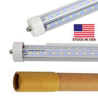 En los Estados Unidos de la forma de V + Individual Pin FA8 R17D 8 pies de tubos led luces 65W 72W 8 pies T8 llevó las luces de tubos de doble lado de la CA 85-265V